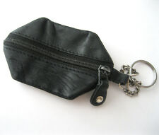 Genuine Visconti Black Leather Wallet Key Case Pouch