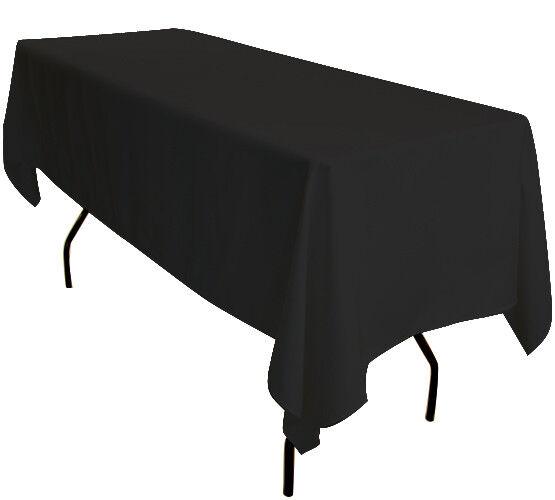 5x 90 x132  noir rectangulaire 6 ft (environ 1.83 m) Chevalet de table nappes Exposition