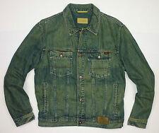 """Camel Active Hombre Premium Vintage Denim Jean chaqueta tamaño extra grande UK43""""/44"""""""