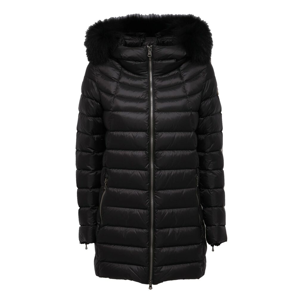 7518ab Piumino Lungo Donna Colmar Place Black Giubbotto Long Jacket Woman