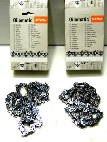 """Deux authentiques stihl 18 /""""essence tronçonneuse chaînes 66 x 3//8 063/"""" 038 039 361 440 etc!"""