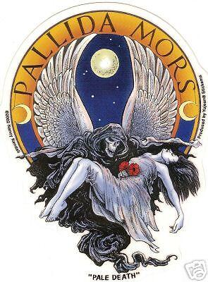 "sticker   #CD998 Decal  /""PALE DEATH/""  Biker decal"