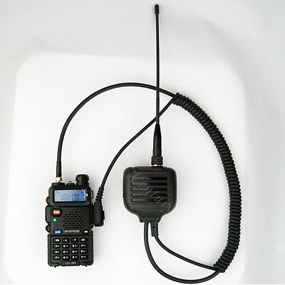 Dual Band Antenna Speaker Mic rophone for Baofeng UV82 L UV8 D BF888 s UV5R A126