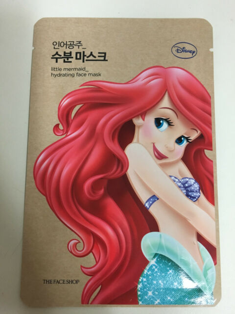 THE FACE SHOP 1sheet Disney LITTLE MERMAID HYDRATING FACE MASK PACK
