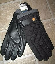Men's $78 (XL) POLO-RALPH LAUREN Quilted Black Leather Gloves
