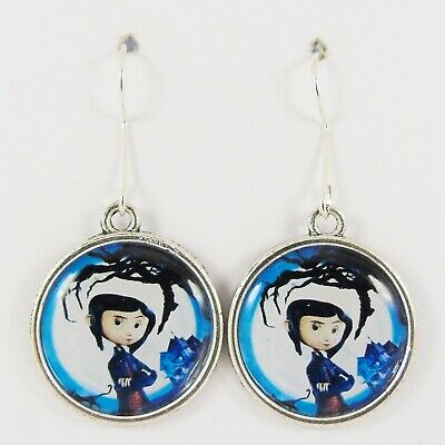 Coraline Earrings Resin Neil Gaiman Button Eyes Other Mother Ebay