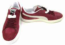 Puma Shoes Classic Suede Maroon Red Sneakers Size 8.5 EUR 41