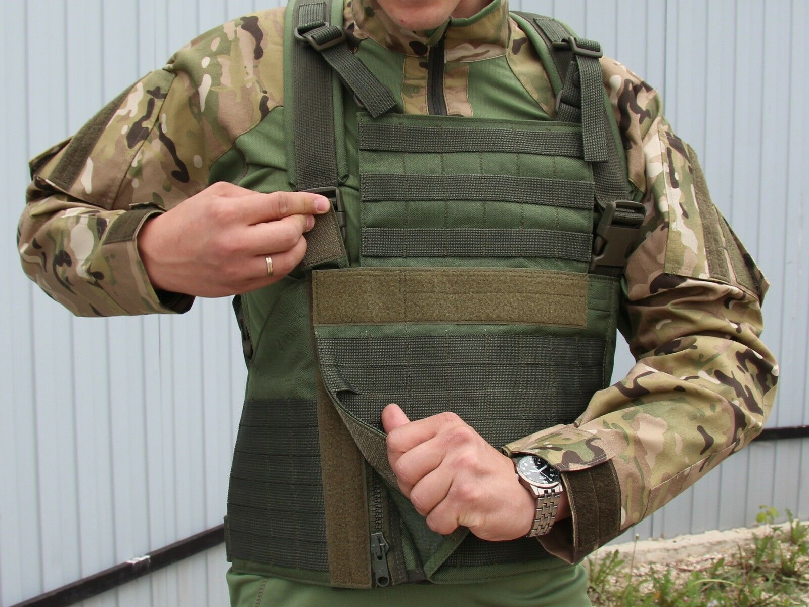 Chest Rig MOLLE Multifunctional in Olive color by Stich Profi