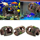 acquario acquario barile resina ornamento grotta paesaggio decorazione nuova