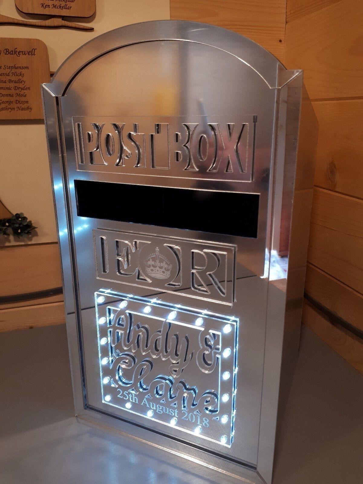DEL Light Up Wedding Post Box-Design Unique
