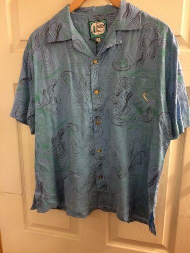 Bassa pressione Da Uomo Blu Hawaiano Camicia Taglia Small o Medium manica corta Nuovo con etichette
