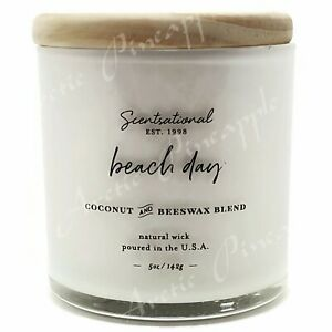 Scentsational-Coconut-amp-Beeswax-5oz-Single-Wick-Small-Candle-Beach-Day