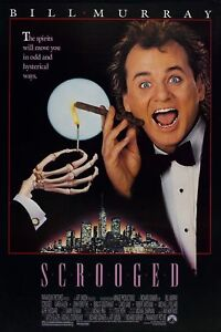 SCROOGED-1988-BILL-MURRAY-ORIGINAL-1-SHEET-MOVIE-POSTER-ROLLED