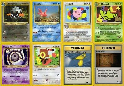 Pokemon TCG Neo Discovery 1st Edition Cards Common //75 Uncommon /& Rares