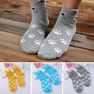 Kawaii Cute Cartoon Cat Footprints Pattern Casual Socks Cotton Tube Socks Warm