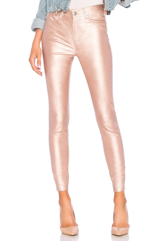 Free People Pearl Pink Vegan Leather Long & Lean Legging Pants Size 30