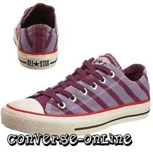4894b93f7c2 Women s Men s CONVERSE All Star PURPLE Low Trainers Shoes SIZE UK 3 ...