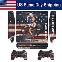 Decal Protect Sticker Skin For Ps3 Slim Console&controller- Battle Torn Strips