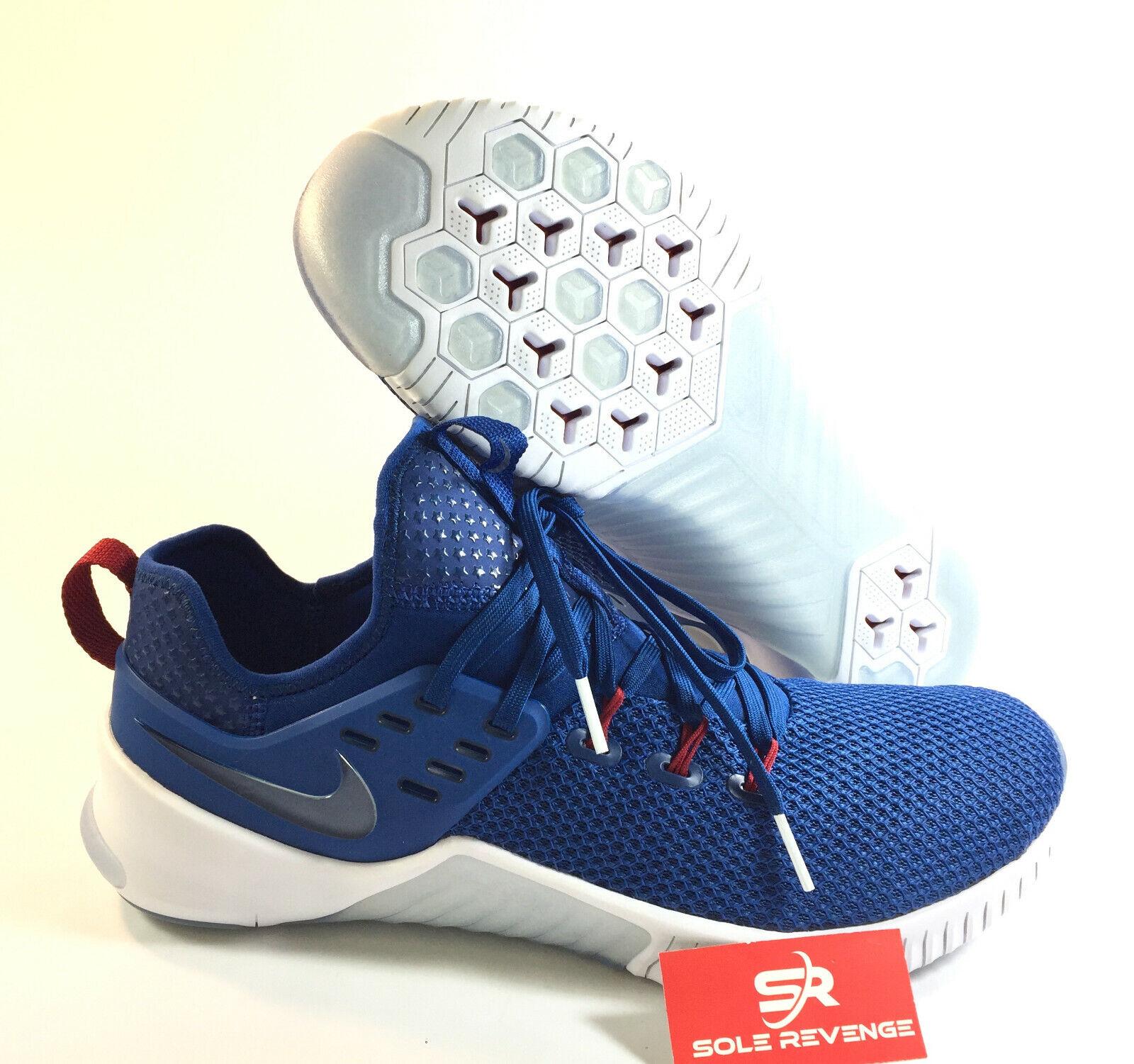 NIKE FREE X METCON - MEN'S A0630-441 AMERICANA Gym bluee White Team Red  c1