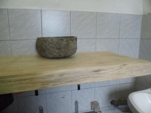 Tischplatte Waschtischplatte Eichenbohle 150x40x5 cm Eiche rustikal, ca