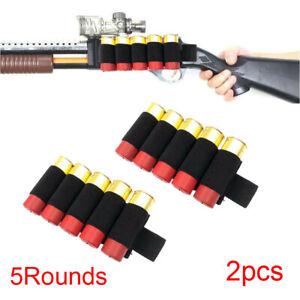 2x-Tactical-5-Rounds-12-20GA-Gauge-Shotgun-Shell-Holder-Gun-Ammo-Cartridge-Pouch