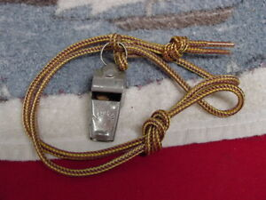 Collectible-Vintage-Mid-1900-039-s-WHISTLE-FRANKLIN-With-Lanyard