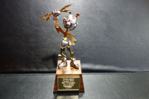 Rare Reddy Kilowatt Display Desk award statuette ELECTRICIAN GIFT Authentic