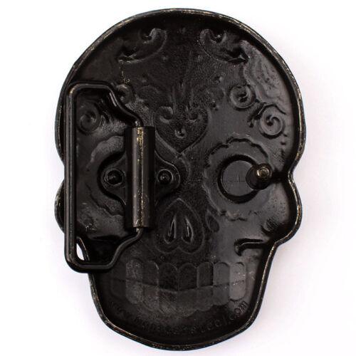 SK-14-BK Vintage Skull Head Boucle de ceinture Western cowboy Native American
