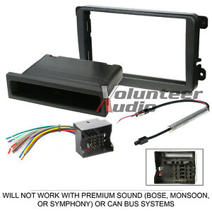 VolKSwagen-Car-Stereo-Radio-Dash-Installation-Mount-Bezel-Trim-Kit-Wire-Harness