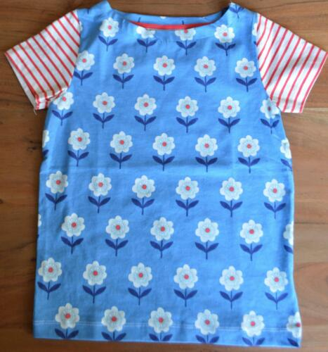 NEW MINI BODEN GIRLS SIZE 3-12 YEARS  BLUE FLORAL JERSEY TOP T SHIRT