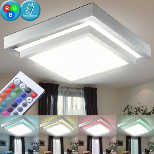 RGB LED Decken Leuchte Wohnraum Ess Zimmer Strahler Dimmer Lampe FERNBEDIENUNG