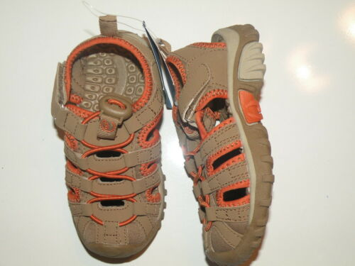 GYMBOREE WILD SAFARI TAN N ORANGE TRAIL SHOES 6 8 NWT
