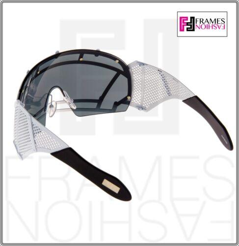 925ecfdf9cdb 4 of 9 KTZ x Linda Farrow Football Helmet Sunglasses Black White Mirrored  Mask KTZ1