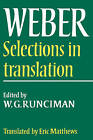 Max Weber: Selections in Translation by Max Weber (Paperback, 1978)