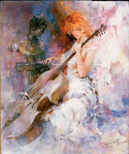 Details about  /Willem haenraets show original title musical moments stretcher-image of screen music girl