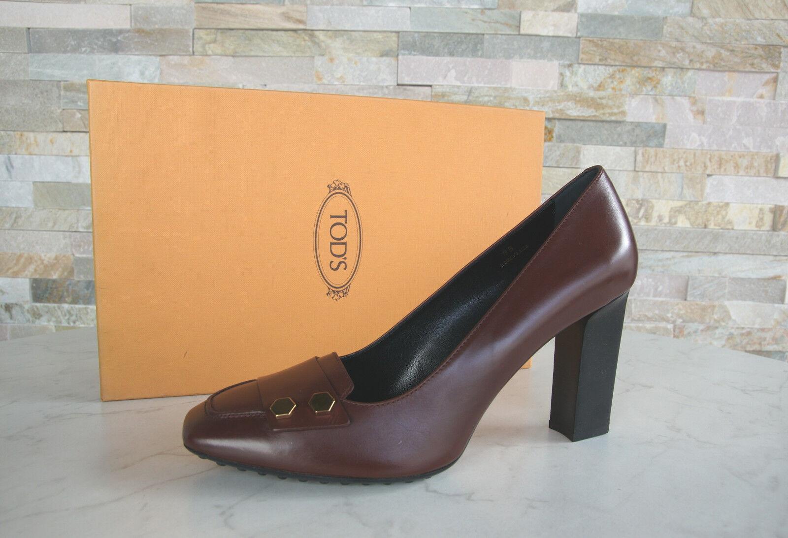 Tods Tod's Braun-rojo zapatos de salón tacón alto zapatos Braun-rojo Tod's nuevo a056f8