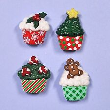 DRESS IT UP Buttons Xmas Cupcakes 7474 - Embellishment  - Christmas