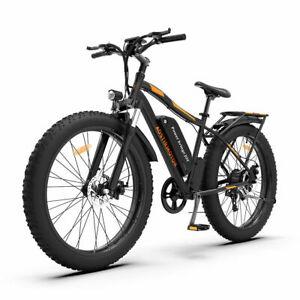 "26"" Electric Bike Mountain Bicycle 750W 48V LiBattery Fat Tire Beach City Ebike"