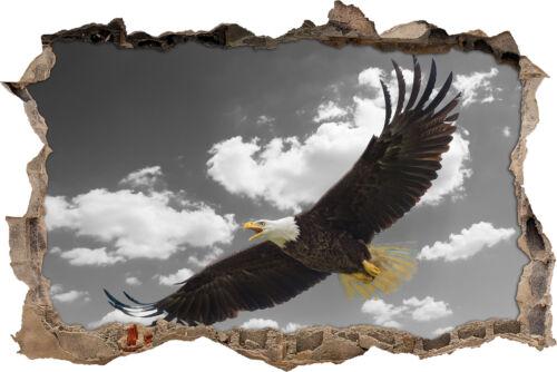 prächtiger Weißkopfseeadler fli 3D-Look Durchbruch Wandtattoo Aufkleber-Sticke