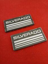 88 98 2pcsset Silverado Cab Emblem Badge Side Roof Piller Decal Plate
