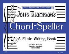 """""""JOHN THOMPSON'S CHORD-SPELLER MUSIC WRITING BOOK"""" MUSIC BOOK ON SALE BRAND NEW!"""
