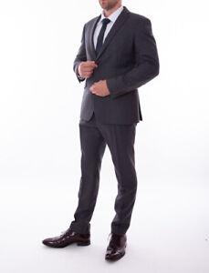 moderne Techniken große Auswahl Veröffentlichungsdatum Details about Men's Pierre Cardin Tailored Fit Suit Slim Grey 100% Wool