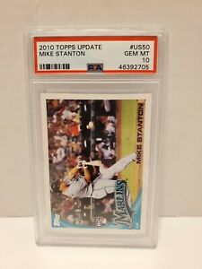 2010-Topps-Update-Mike-Stanton-ROOKIE-RC-US50-PSA-10-GEM-MINT