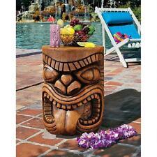 LONO TONGUE TIKI HEAD Sculpture COCKTAIL BAR TABLE OUTDOOR POOL Tropical Decor