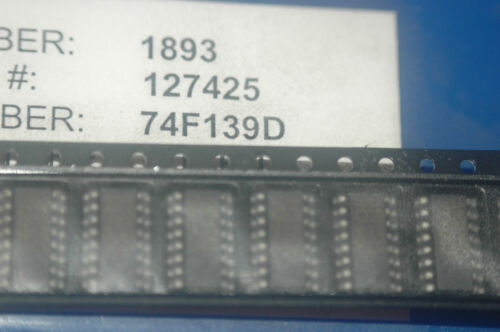 PHILIPS 74F139D D//C 9600 Surface Mount Device 16-Pin SOIC New Qty-25