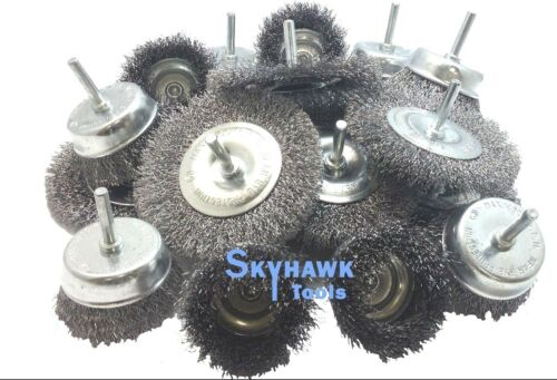 """20-pc 1//4/""""-shank WIRE WHEEL BRUSH ASSORTMENT for Rotary Tools"""