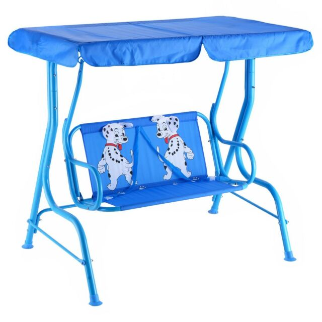 Outdoor Kids Child Garden Patio Swing Bench Chair Porch Lounge W/ Canopy 2  Seats