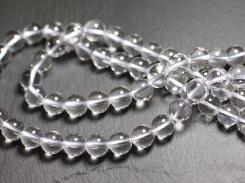 Cristal de Roche Quartz Boules 4mm 1 Fil 39cm Perles de Pierre