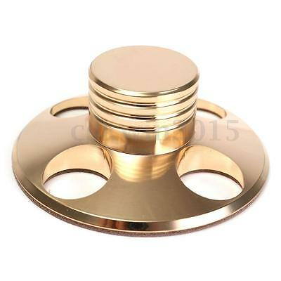 Golden LP Record Disc Stabilizer Stainless Steel Turntable Clamp Brass Grade