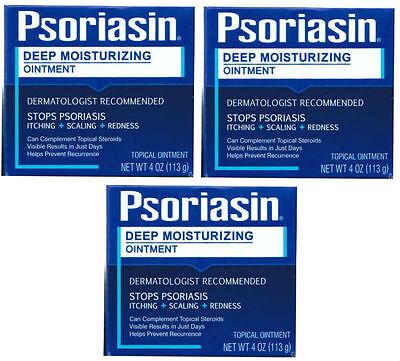 3 PACK Psoriasin Multi-Symptom Psoriasis Relief Ointment 4 oz 072959780043CT